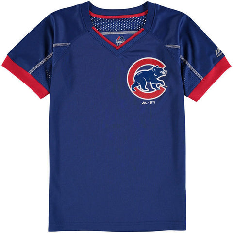 Child Chicago Cubs Majestic Royal Emergence T-Shirt