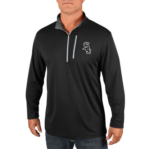 Men's Chicago White Sox Majestic Black Half-Zip Pullover Top