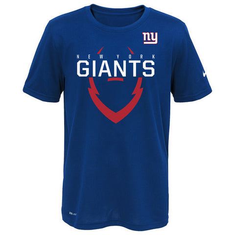Youth New York Giants Nike Dri-Fit Navy Icon Performance Tee