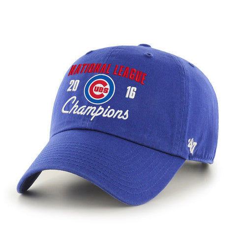Men's Chicago Cubs '47 Royal 2016 National League Champions Clean-Up Adjustable Hat - Pro Jersey Sports - 1