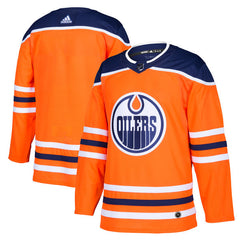 Men's Edmonton Oilers adidas Orange Home Authentic Blank Jersey
