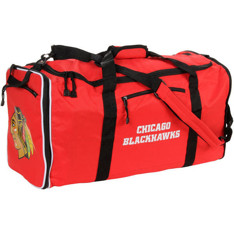 Chicago Blackhawks Red Steal Duffel Bag