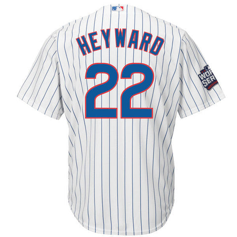 Chicago Cubs Cool Base Jason Heyward Mens Home Replica Jersey with World Series Patch - Pro Jersey Sports - 1