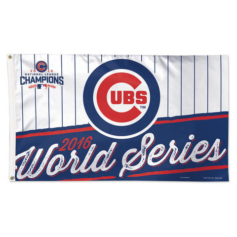 Chicago Cubs WinCraft 2016 National League Champions 3' x 5' Deluxe Flag - Pro Jersey Sports
