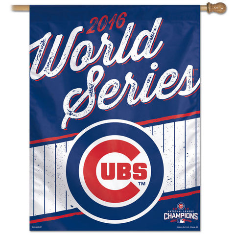 "Chicago Cubs WinCraft 2016 National League Champions 27"" x 37"" Vertical Banner - Pro Jersey Sports"
