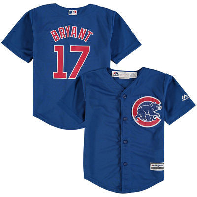 Infant Chicago Cubs Kris Bryant Majestic Royal Official Cool Base Player Jersey, Royal-Majestic - Pro Jersey Sports - 1