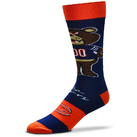 Chicago Bears Mens Mascot Flag Socks by For Bare Feet
