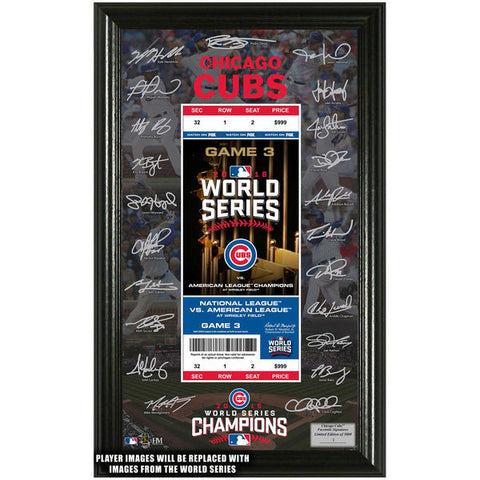 Chicago Cubs 2016 World Series Champions Signature Ticket
