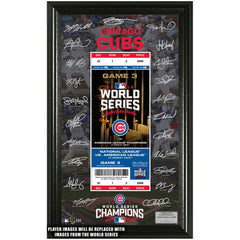 Chicago Cubs 2016 World Series Champions Signature Ticket - Pro Jersey Sports
