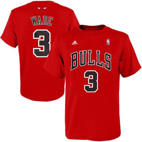 Youth Chicago Bulls Dwyane Wade Red Performance T-Shirt
