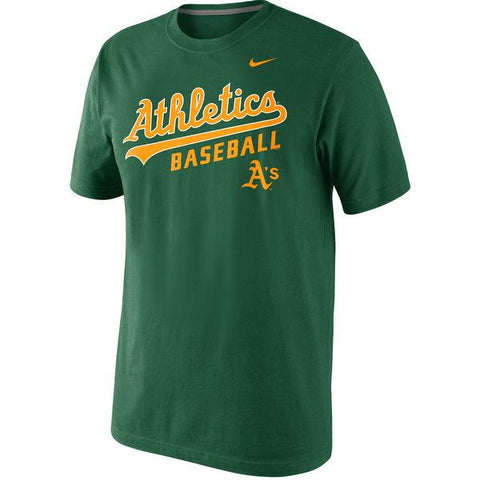 Men's Nike Green Oakland Athletics Home Practice T-Shirt