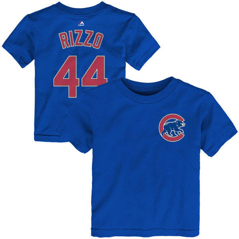 Infant Chicago Cubs Anthony Rizzo Majestic Royal Player Name & Number T-Shirt