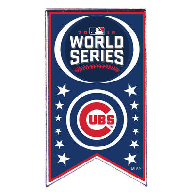 Chicago Cubs 2016 World Series Team Banner Pin