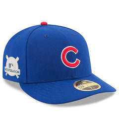 Men's Chicago Cubs New Era Royal 2017 Postseason Side Patch Low Profile 59FIFTY Fitted Hat