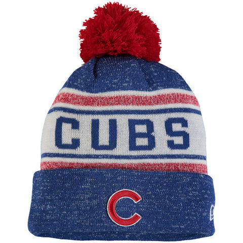 Men's Chicago Cubs New Era Royal Toasty Cover Cuffed Knit Hat with Pom