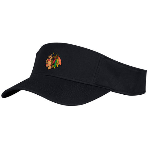 Men's Chicago Blackhawks adidas Black Basic Adjustable Visor