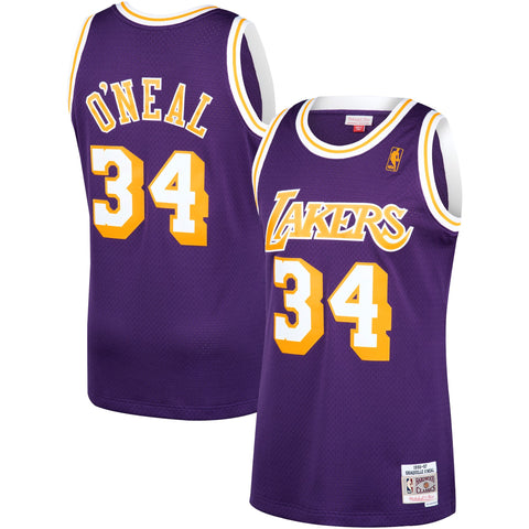Los Angeles Lakers Shaquille O'Neal Mitchell & Ness NBA Mens Hardwood Classic 1996-97 Swingman Purple Jersey