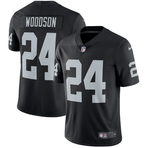 Men's Oakland Raiders Charles Woodson Nike Black Retired Player Vapor Untouchable Limited Throwback Jersey