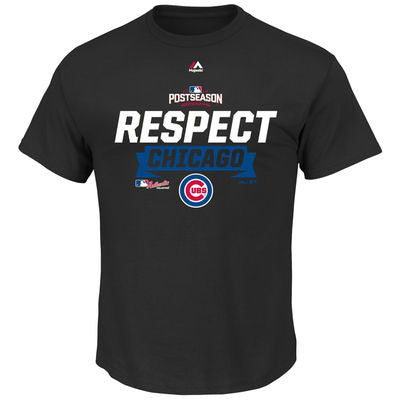Men's Chicago Cubs Majestic Black 2016 Division Series Clincher Respect Locker Room T-Shirt