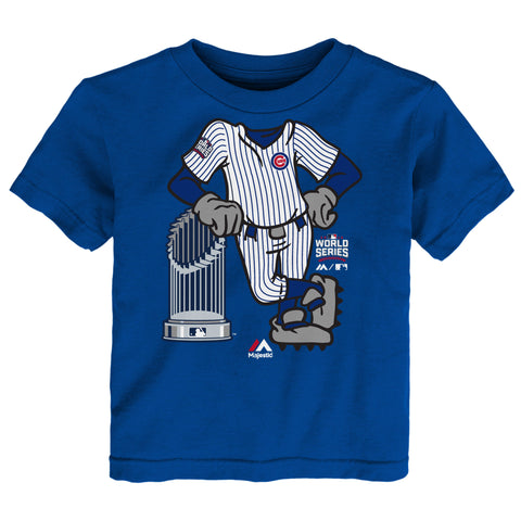 Majestic Chicago Cubs Child Royal 2016 World Series Champions Catcher T-Shirt - Pro Jersey Sports