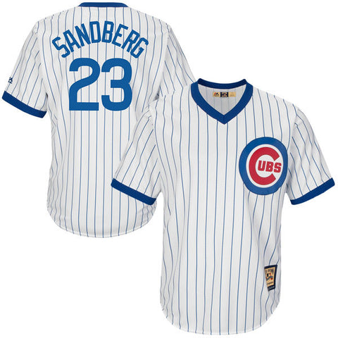 Chicago Cubs Ryne Sandberg Majestic White Home Cool Base Cooperstown Collection Player Jersey