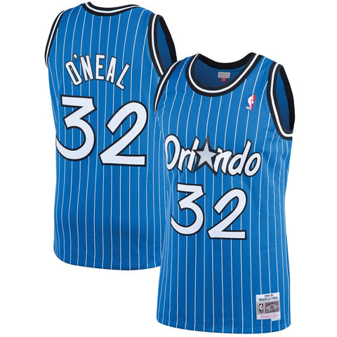 Men's Shaquille O'Neal Orlando Magic 1994-95 Blue Swingman Replica Jersey By Mitchell & Ness