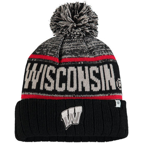 Wisconsin Badgers Top of the World Acid Rain Pom Knit