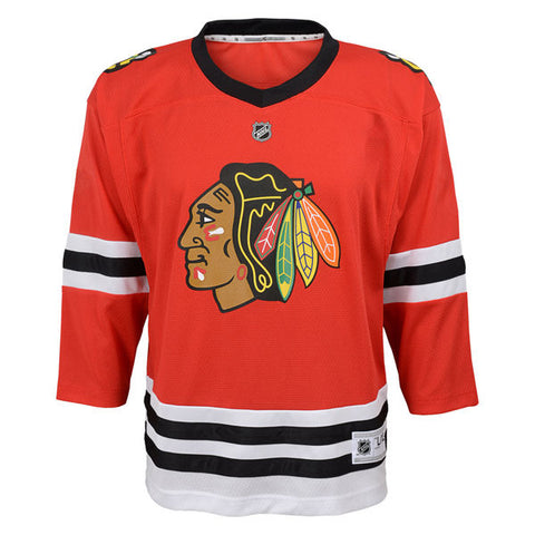 Child Chicago Blackhawks Blank Red Replica Player Jersey