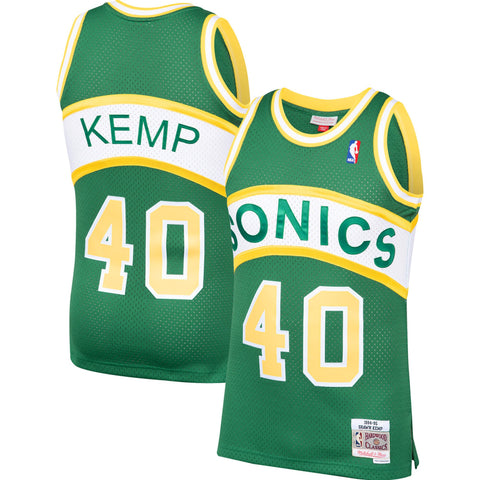 Shawn Kemp Seattle Supersonics Mitchell & Ness 1994-1995 Green NBA Swingman Hardwood Classics Jersey