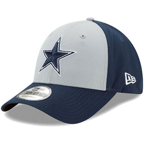 Mens Dallas Cowboys New Era Gray/Navy The League Block 9FORTY Adjustable Hat
