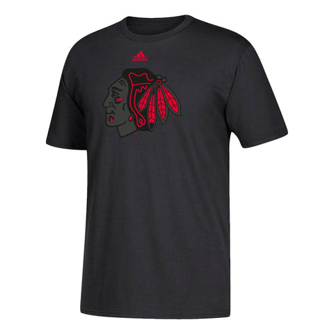 Men's Adidas Chicago Blackhawks Black Out Go To Tee