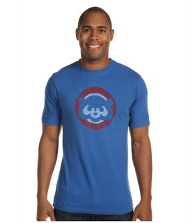 Men's Chicago Cubs Distressed 1984 Logo Vintage Brass Tacks Tee By Red Jacket
