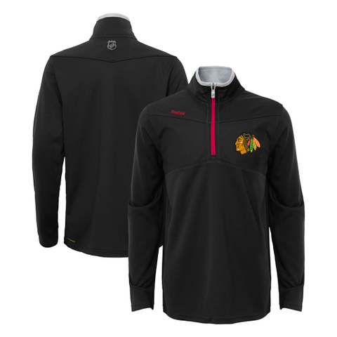 Child Chicago Blackhawks 1/4 Zip Centert Ice Track Jacket