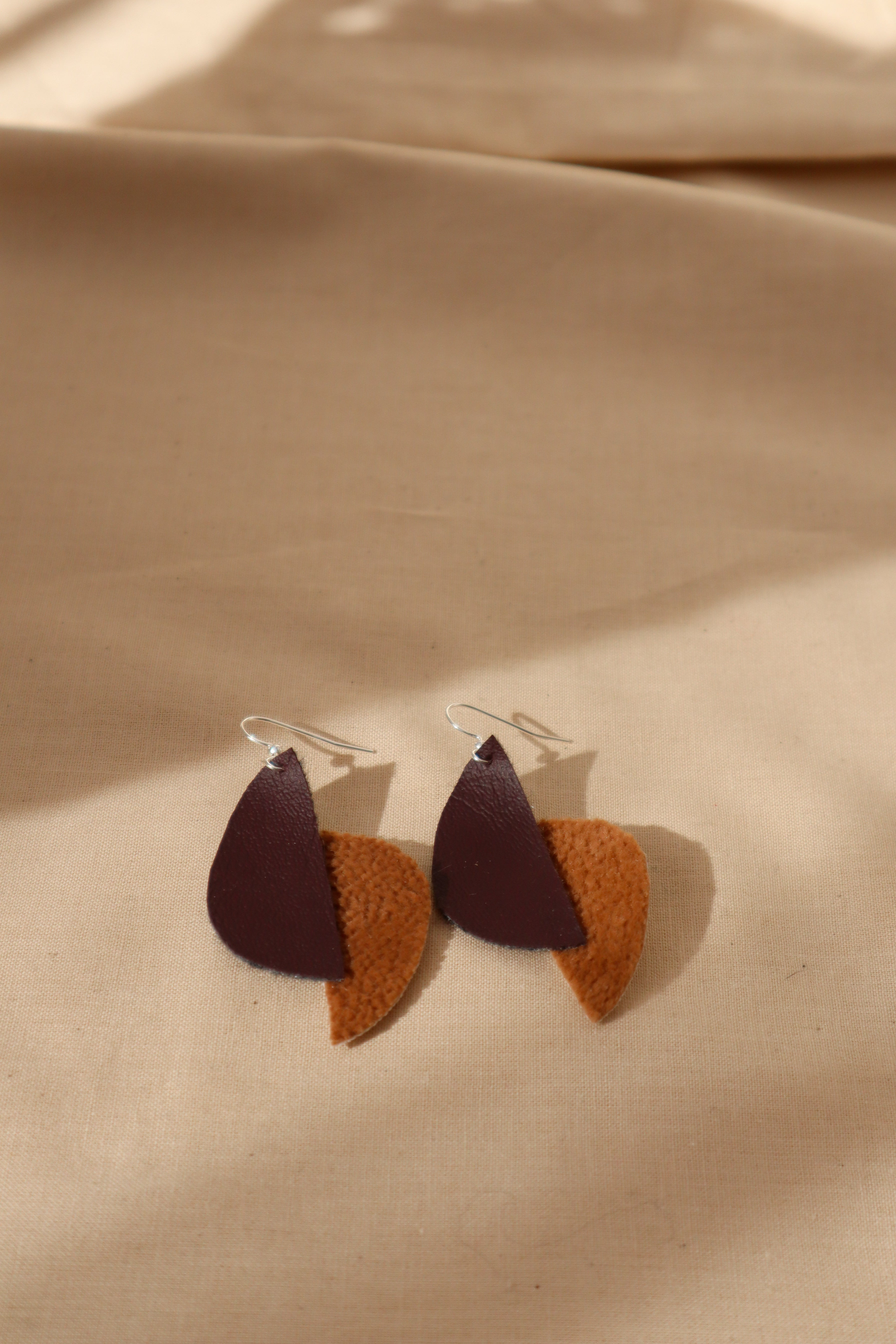 Milla earrings abstract pears in browns