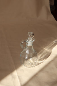 Antique oil cruet, glass pitcher with stopper