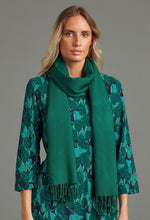 Load image into Gallery viewer, 100% Wool Shawl in Emerald - Renaissance Boutiques Ireland
