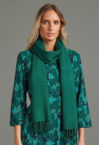 100% Wool Shawl in Emerald - Renaissance Boutiques Ireland