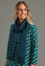 Load image into Gallery viewer, 100% Wool Shawl in Teal - Renaissance Boutiques Ireland