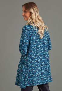 Abigail Hurricane Print Tunic in Teal - Renaissance Boutiques Ireland