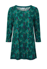 Load image into Gallery viewer, Adele Montague Print Tunic in Green - Renaissance Boutiques Ireland