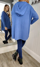 Load image into Gallery viewer, Anna Oversize Long Zip Up Hoodie in Denim Blue - Renaissance Boutiques Ireland