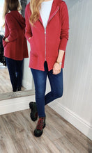 Load image into Gallery viewer, Anna Oversize Long Zip Up Hoodie in Red - Renaissance Boutiques Ireland