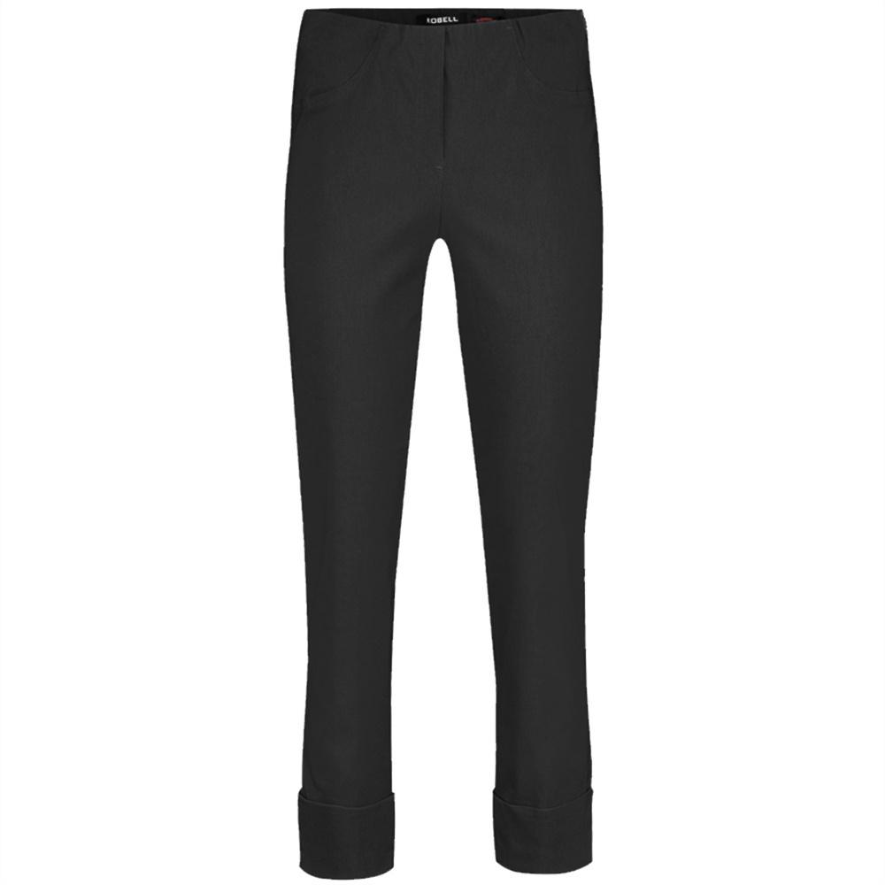 Bella Ankle Grazer Stretch Trouser in Black - Renaissance Boutiques Ireland