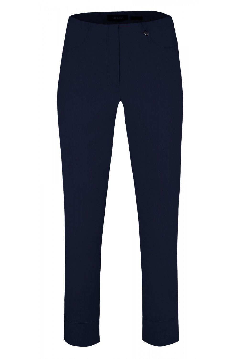Bella Ankle Grazer Stretch Trouser in Navy - Renaissance Boutiques Ireland