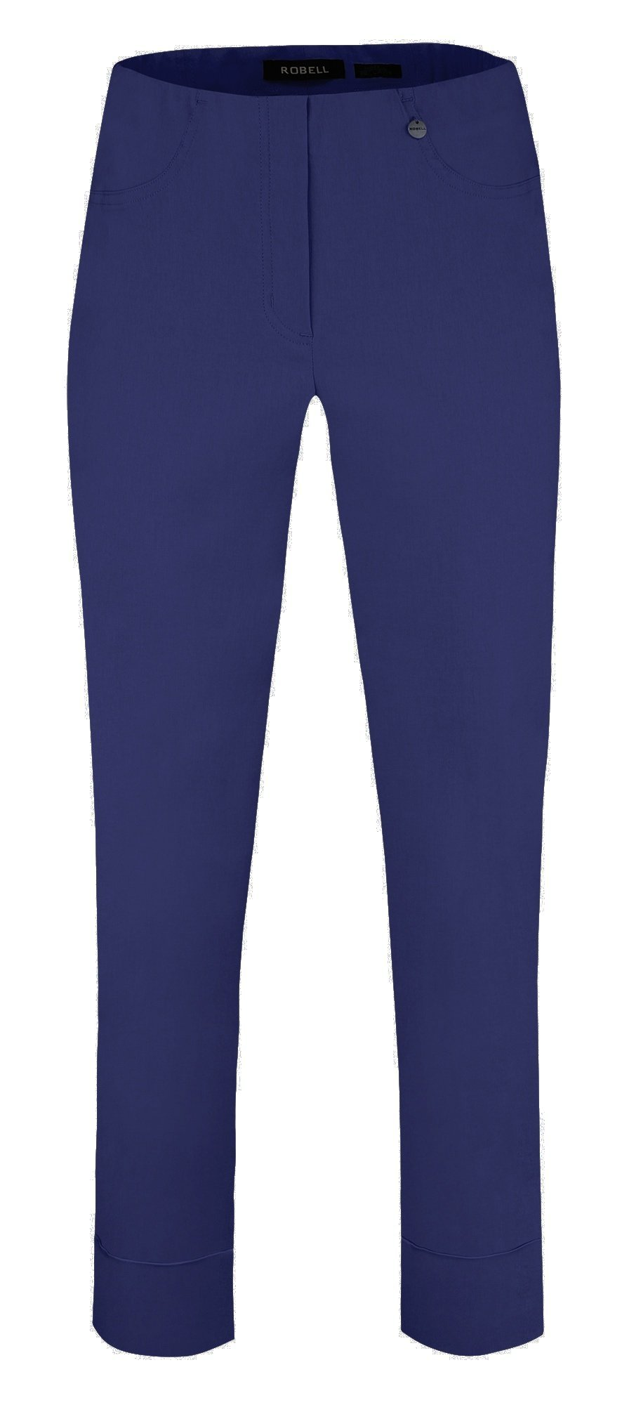 Bella Ankle Grazer Trouser with a Cuff in French Blue Trousers Robell