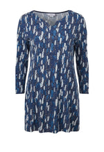 Load image into Gallery viewer, Bianca Parchment Print Tunic in Navy - Renaissance Boutiques Ireland