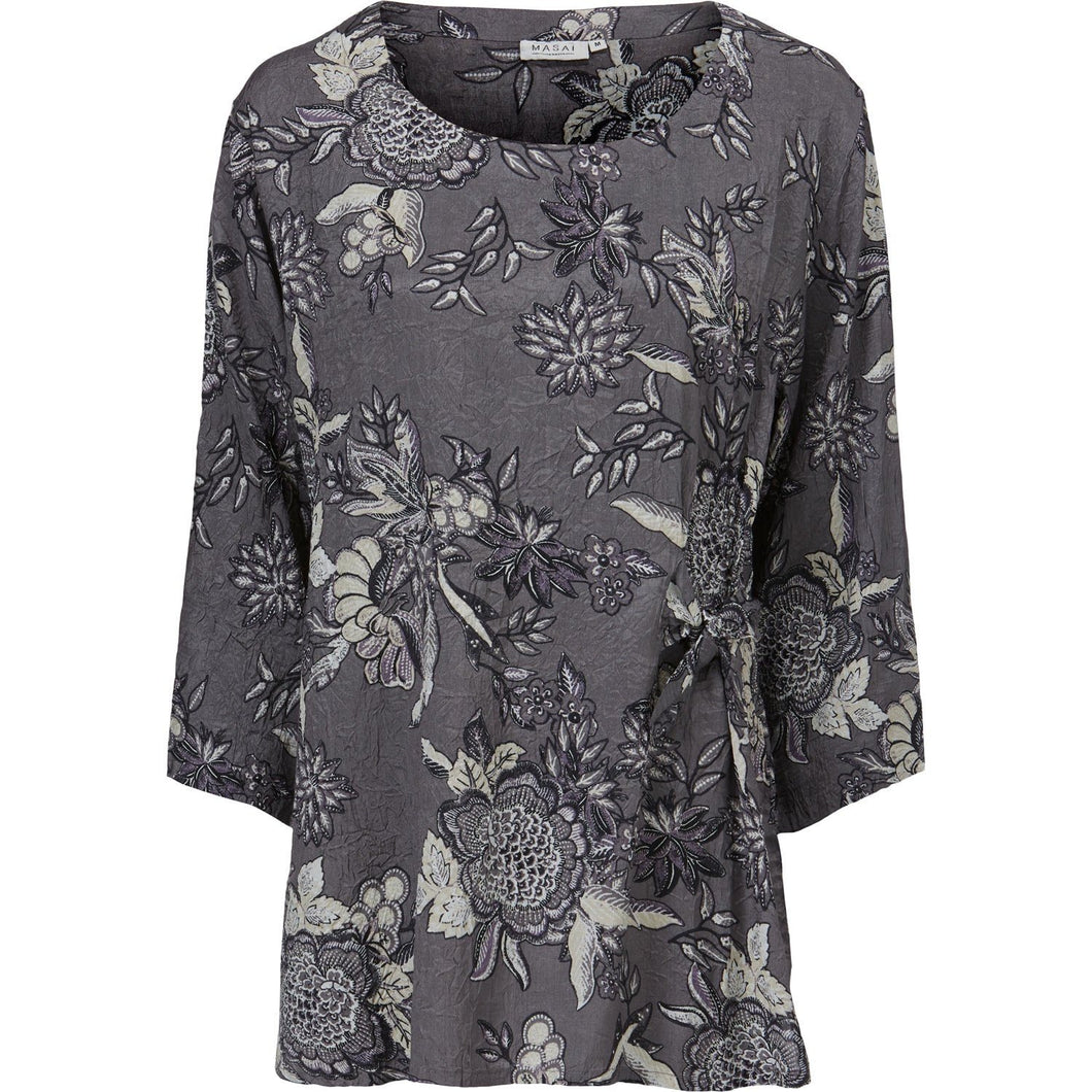 Britt 3/4 sleeve Top in Charcoal - Renaissance Boutiques Ireland