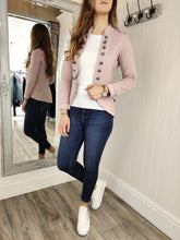 Load image into Gallery viewer, Casual Military Jacket in Dusty Pink Jacket Boutique