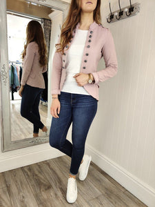 Casual Military Jacket in Dusty Pink Jacket Boutique