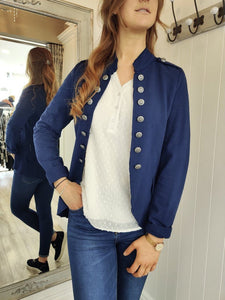 Casual Military Jacket in Navy Jacket Boutique